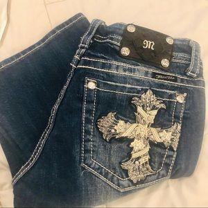 MISS ME jeans embellished Cross pocket